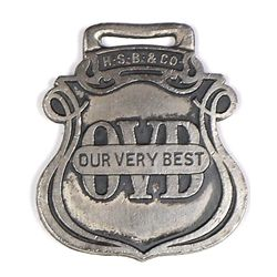 Antique advertising watch fob for Our Very Best