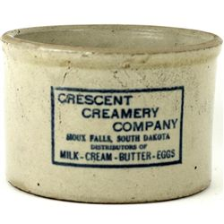 Antique adv. Butter Crocks Crescent Creamery Co.