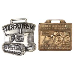 Collection of 2 fobs include Terratrac JI Case Co.