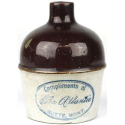 Antique miniature adv. crock jug stamped