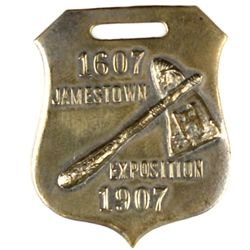 Scarce 1607-1907 fob for Jamestown Exposition