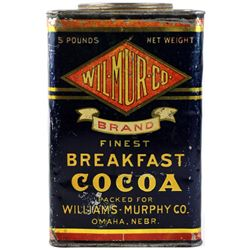 Antique Wilmur Breakfast Coco Tin Omaha Nebr