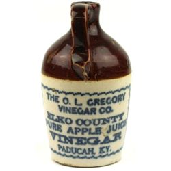 Antique miniature advertising jug