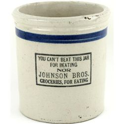 Antique Redwing beater Jar, Johnson Bros.