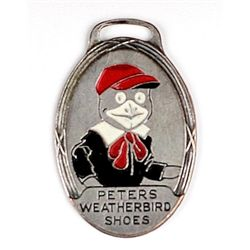 Antique advertising watch fob for Peters