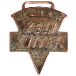 Original advertising watch fob for Simmons Keen