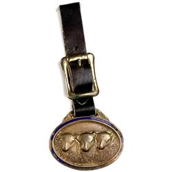 Antqiue advertising watch fob back marked WM. R.