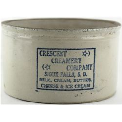 Scarce antique butter adv. crock Crescent Creamery