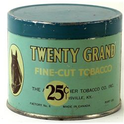 Tin lithograph Twenty Grand Fine Cut tobacco tin