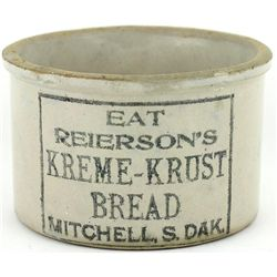 Antique adv. butter crock front stamped Eat