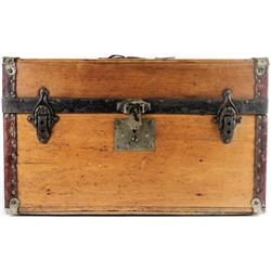 Great little antique wood travel trunk