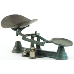 Antique cast iron toy scale by Arcade