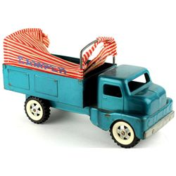 Structo press tin Camper toy truck