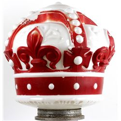 Original Red Crown milk glass gas pump globe