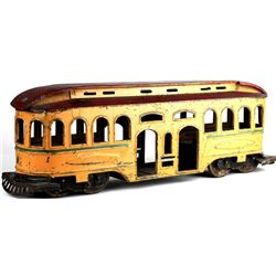 Original Gyro 1920-1930's press tin trolley car