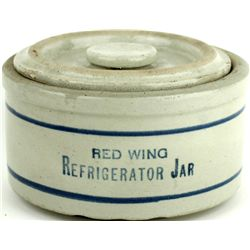 Antique Red Wing advertising refridgerator jar