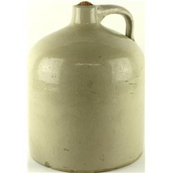Unmarked antique stoneware crock jug
