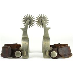 Pair Buermann Star Steel spurs engraved