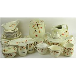 Collection of Hall's Autumn Leaf china