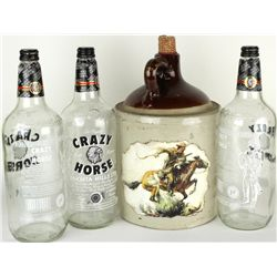 Collection of 4 includes Stoneware whiskey jug