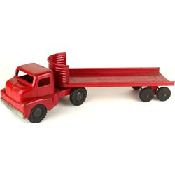 Press tin Structo semi truck and tractor