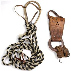 Collection of 2 includes vintage bear back rigging