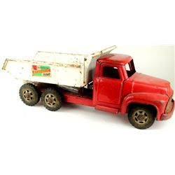 Vintage Buddy L press tin toy dump truck