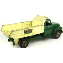 Buddy L press tin toy dump truck