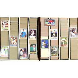 2 flats C. 1980's baseball cards over 5000