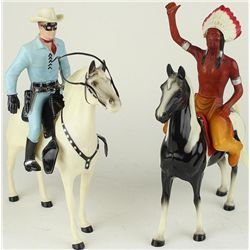 Collection of 2 vintage toy includes Lone Ranger