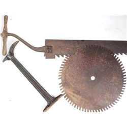 Collection of 3 includes antique ice saw