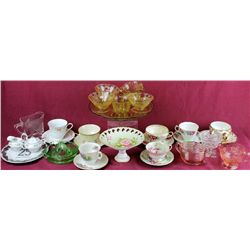 Nice collection of vintage glass and china