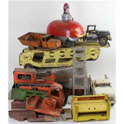 Misc. collection of toy trucks for restoration or