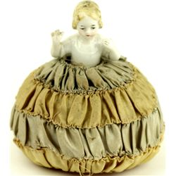 Early Victorian pin cushion doll