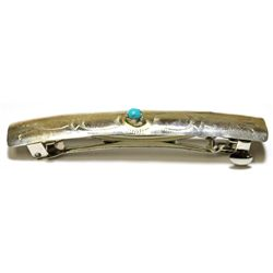 Navajo Turquoise Thin Design Hair Barrette