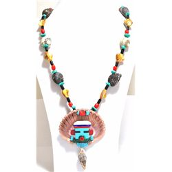 Old Pawn Zuni Multi-Stone & Shell Necklace - Beverly Etsate