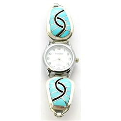 Zuni Turquoise Women's Watch - Amy Quandelacy