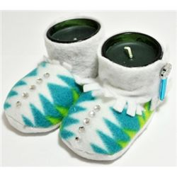 Navajo White Blue & Green Baby Booty Candle Holders - Dawn Brown
