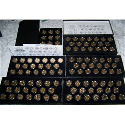 (6X$) 24K GOLD ENHANCHED UNC QUARTER SETS 1999-2008  INCLU: (2) 009 DISTRICT