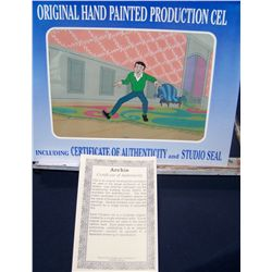 "ARCHIES 1970'S ORIGINAL HAND PAINTED ANIMATION PRODUCTION CEL W/ C.O.A. ""REGGIE"""