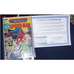 """THE AMAZING SPIDERMAN""#8 KING SIZE AUTOGRAPHED BY JOHN ROMITA 1970'S W/ CERTIFICATE OF AUTHENTICITY"