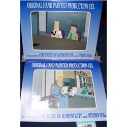 "(2X$)""DILBERT"" ORIGINAL HAND PAINTED PRODUCTION CELS WITH CERTIFICATES OF AUTHENTICITY"