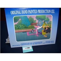 """PINK PANTHER"" ORIGINAL HAND PAINTED PRODUCTION CEL WITH  C.O.A"