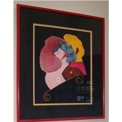 "RICHARD LINDER ORIGINAL LITHOGRAPH, ""THE KISS"""