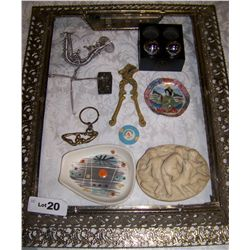 (10) PIECE ASSORTED ASSORTED D COLLECTIBLES, SOME VINTAGE & DECORATIVE. AS SHOWN