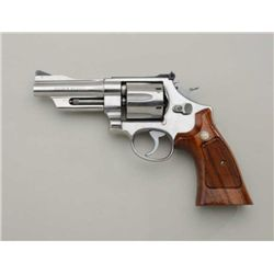 "Smith & Wesson Model 624 DA revolver, .44 S&W  Special cal., 4"" barrel, stainless steel,  checkered"