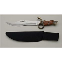 """Snake Charmer"" stainless steel fighting  knife, approx. 15"" overall with 10"" blade,  like new in th"