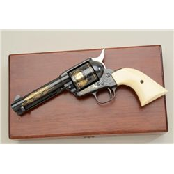 "Colt John Wayne Commemorative SAA revolver,  .45 cal., 4-3/4"" barrel, blue finish, gold  accented de"
