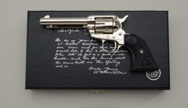 singles in masterson This is a copy of the letter written by bat masterson to colt on july 24, 1885 ordering two nickel plated single actions with light triggers and higher, thicker front sights, shorter barrels and gutta percha grips.