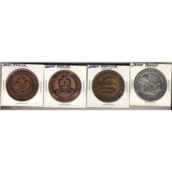 Jerry Remick Medals; Canadian Association of Token Collectors copper plated, Ontario Numismatic Asso